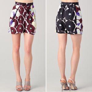 DVF Silk Shorts Donovan High Waisted Silk Shorts